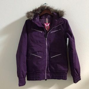 Burton Purple Snowboard Jacket - Medium